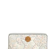 Women's Tory Burch 'Kerrington' Continental Wallet - Blue