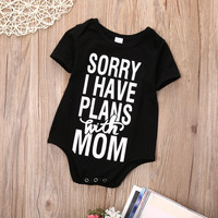 """Adorable Infant Onsie """"Sorry I Have Plans With Mom"""" 0-18 months"""