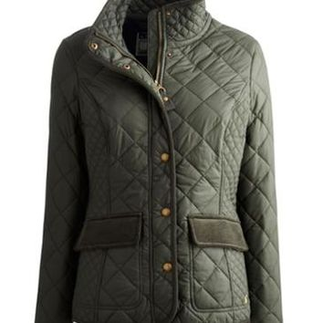 Everglade Green Moredale Womens Quilted Jacket | Joules US