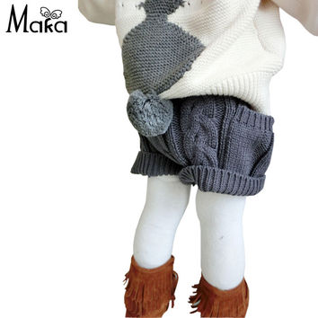 New Born Baby Girl Crochet Shorts Toddler Knit Underwear Shorts Kids Ball Cute Pants Tracksuits PP New Year
