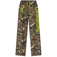 Browning Men's Mossy Oak Infinity Camo Safety Green Buckmark Lounge Pant