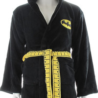 BATMAN - MASKED HOOD FLEECE BLACK ROBE