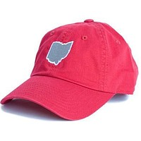 Ohio Columbus Gameday Hat in Red by State Traditions