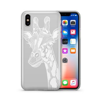 Henna Giraffe - Clear TPU Case Cover
