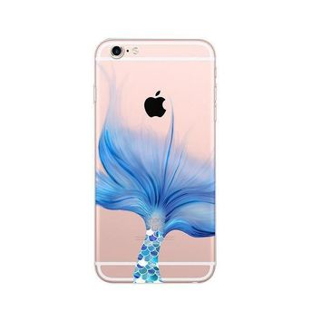 LMFON1O Day First Mermaid Ultra Thin Soft Tpu Phone Case for iPhone 6 6S