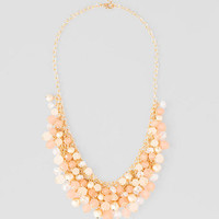 Arvieux Beaded Necklace In Pink