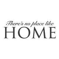 "wall quotes wall decals - ""There's No Place Like Home"""