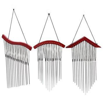 Russian Style 15 Tubes Wind Chimes For garden Yard Garden Outdoor Wind Chimes Wood Mental Hanging Garden Ornament  Gifts