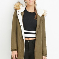 Hooded Faux Shearling Parka