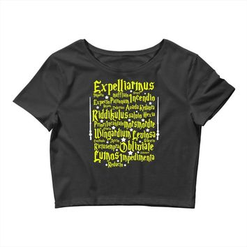 Expelliarmus Harry Potter Spell Crop Top