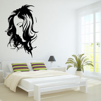 Wall Decor Vinyl Sticker Room Decal Art Hair Salon Girl Glamour Fashion 671