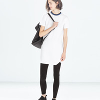 DRESS WITH CONTRASTING COLLAR