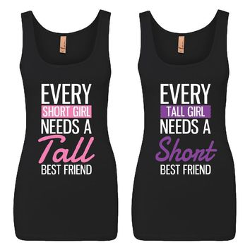 Every Short and Every Tall Girl BFFS Jersey Tank Tops