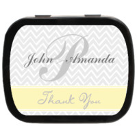 Zig Zag Personalized Wedding Mint Tins for Candy Favors, Party Favors, Wedding Favors