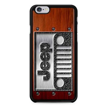 Embossed Steel Jeep Logo On Wood iPhone 6/6s Case