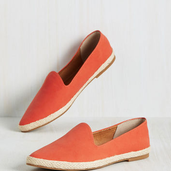 Seychelles Browse Flat in Tangerine | Mod Retro Vintage Flats | ModCloth.com