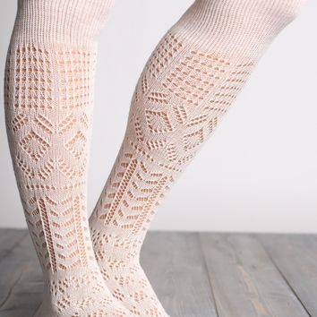 Thigh High Patterned Socks