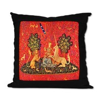 The Woman with the Unicorn Suede Pillow> Unicorn Tapestry> Fun Images 101