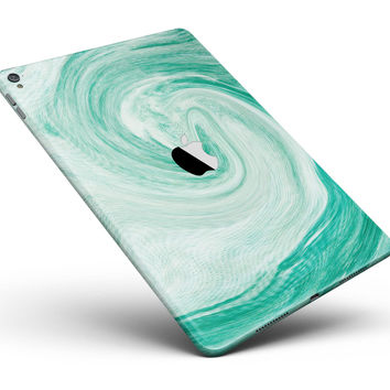 "Swirling Mint Acrylic Marble Full Body Skin for the iPad Pro (12.9"" or 9.7"" available)"