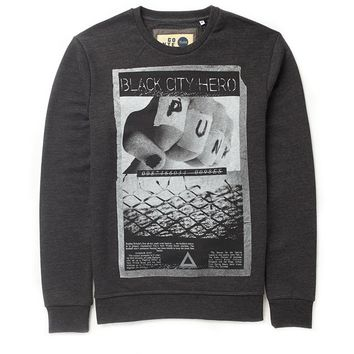 !Solid Block Print Sweatshirt