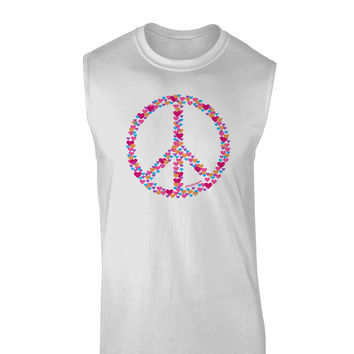 Peace Sign Hearts Muscle Shirt