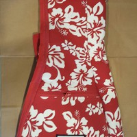Motu Hawaii Red Floral Tenor Ukulele Bag