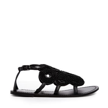 ASOS FLY BY Flat Sandals - Black