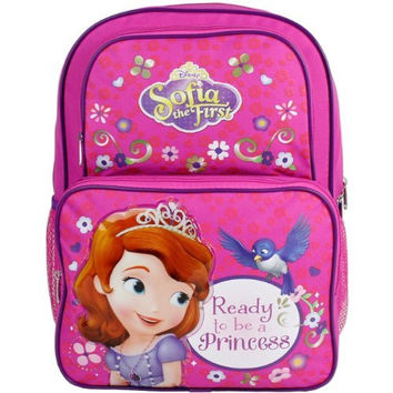 Disney Sofia the First Princess Large Cargo Backpack School Bag - 16 Inch
