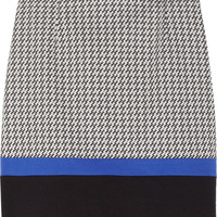 Tibi | Houndstooth cotton-blend mini skirt | NET-A-PORTER.COM