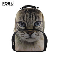 Fashion Women Backbag 3D Animal Backpacks Cute Cat Owl Tiger School Bagpack for Girls Students Children's School Bag Backpack