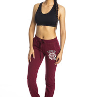 Retro Sweat Pants - Burgundy ed
