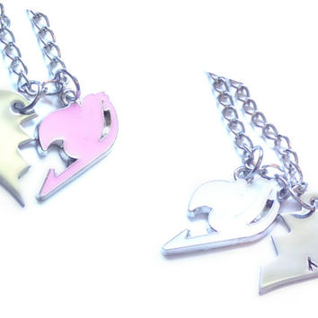 Fairy Tail Lucy & Levy Lovers/Best Friends Necklaces