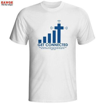 ESBONRZ Get Connected To Jesus T Shirt Design Fashion Creative Pattern T-shirt Cool Casual Novelty Funny Tshirt Men Women Style Top Tee