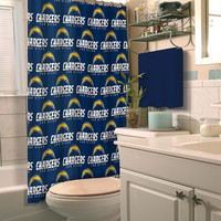San Diego Chargers NFL Shower Curtain