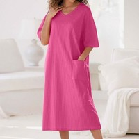 Only Necessities Plus Size Ribbed V-neck Lounger $19.99
