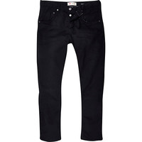 River Island MensBlack Chester tapered jeans