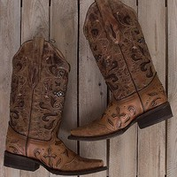 Corral Cross Square Toe Cowboy Boot