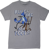 Rules Are For Fools! - Regular Show T-shirt - MyTeeSpot - Your T-shirt Store
