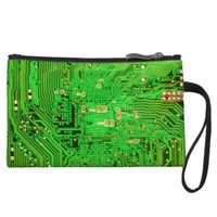 Circuit Board Design Wristlet Wallet