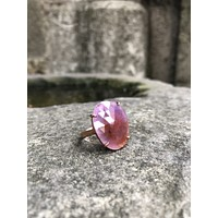 Sapphire gemstone rose gold plated 925k sterling silver womens ring