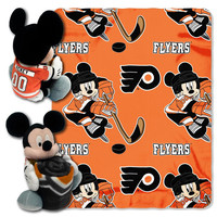Philadelphia Flyers NHL Mickey Mouse with Throw Combo