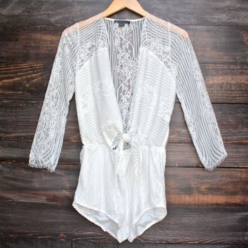 cut to the lace romper - white
