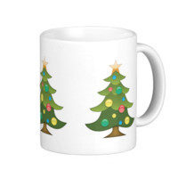 Christmas Tree Emoji Basic White Mug