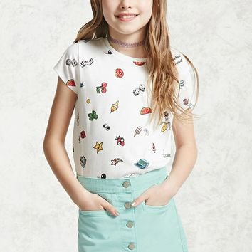 Girls Button-Front Skirt (Kids)
