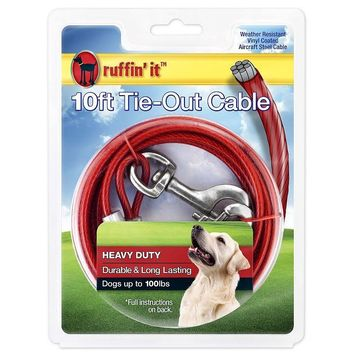 Ruffin' It 29210 Heavyweight Dog Tie-Out Cable, 10'