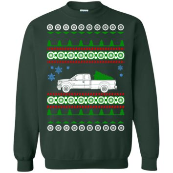 Ford F350 dually pick up ugly christmas sweater