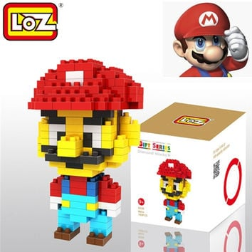Loz Diamond Building Blocks Brick Action Mini Figure Super Mario Bros Toys = 1946509636