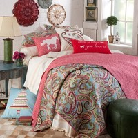 Home Is Where Your Horse Is Paisley Quilt