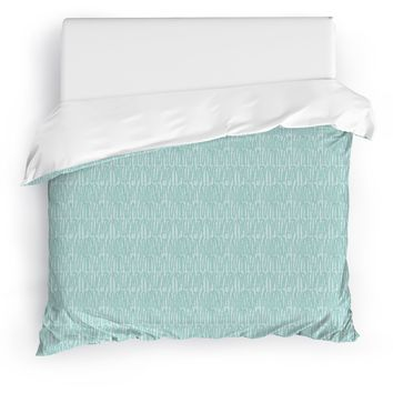 CLUSTER GREEN Duvet Cover By Tiffany Wong