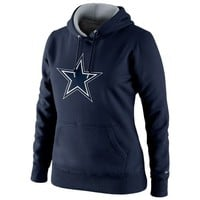 Nike Dallas Cowboys Ladies Tailgater Pullover Hoodie - Navy Blue
